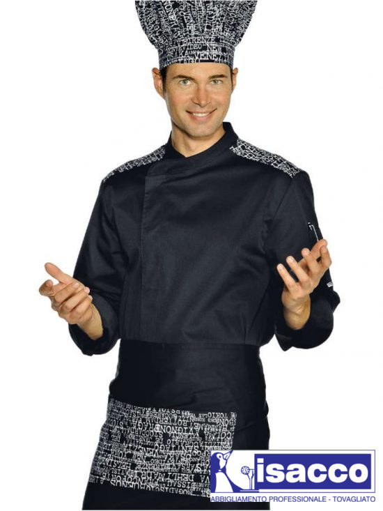 CHEF JACKET BLACK AND WHITE 100% COTTON 33,48€