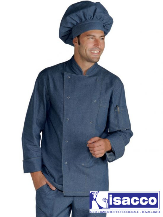 CHEF JACKET LONG SLEEVE 100% COTTON JEAN 37,20€