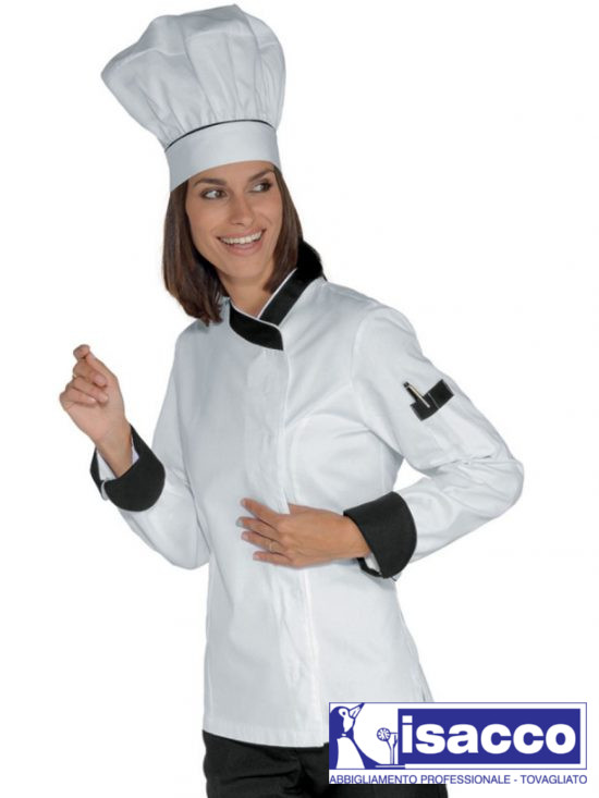 WOMAN CHEF JACKET WHITE WITH SNAPS 100% COTTON 35,96€