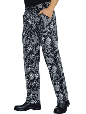 PRINTED TROUSERS WITH ELASTIC WAIST POLYESTER AND COTTON 34,72€