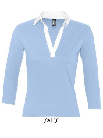 WOMEN'S 3/4 SLEEVE TWO-COLOURED RUGBY POLO SHIRT 20,15€