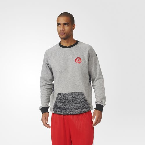 D Rose Marble Burn-out Crew Sweatshirt
