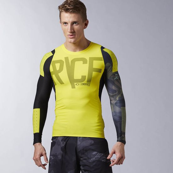 REEBOK CROSSFIT PWR6 LONG SLEEVE COMPRESSION TOP